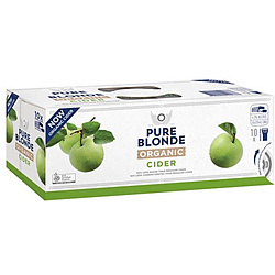 PURE BLONDE ORGANIC CIDER 355ML CANS 10PK