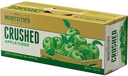 MONTEITHS CRUSHED APPLE CIDER 10PK CAN
