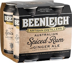 BEENLEIGH SPICED RUM + GINGER CANS
