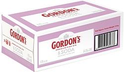 GORDONS PINK + SODA CANS 250ML