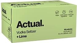 ACTUAL VODKA SELTZER + LIME CANS