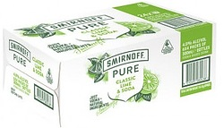 SMIRNOFF PURE CLASSIC LIME AND SODA STUBBIES