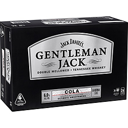 JACK DANIELS GENTLEMAN JACKS and COLA CANS 375ML- SPEND $20 OR MORE ON JACK DANIELS & GO INTO DRAW TO WIN A UE SPEAKER!