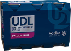 UDL VODKA AND PASSIONFRUIT CAN 6PACK
