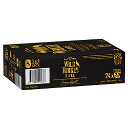 WILD TURKEY RARE & COLA 375ML CANS 24PK