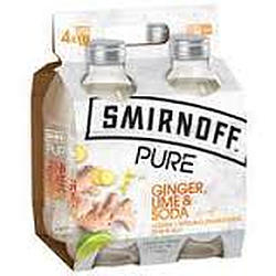SMIRNOFF PURE GINGER LIME AND SODA 4PK
