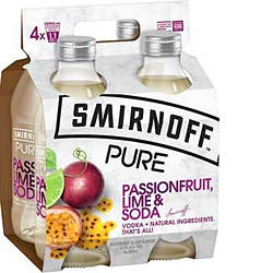 SMIRNOFF PURE PASSIONFRUIT LIME AND SODA 4PK