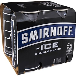 SMIRNOFF ICE BLACK CANS 6PK
