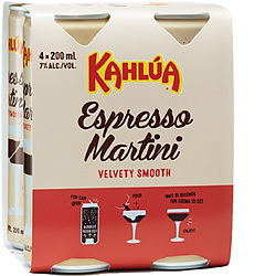 KAHLUA ESP MARTINI CAN 200ML 4PK