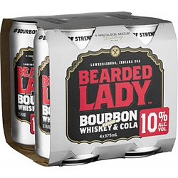 BEARDED LADY 10% AND COLA CANS 4PK
