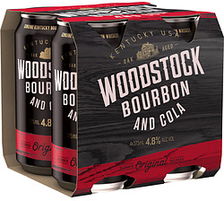 WOODSTOCK 4.8% AND COLA CANS 4PK