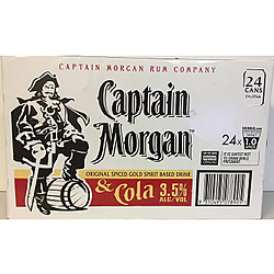 CAPTAIN MORGAN 3.5% AND COLA 375ML CANS