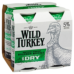 WILD TURKEY AND DRY CANS 4PK