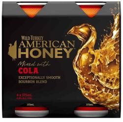 WILD TURKEY HONEY AND COLA CANS 4PK