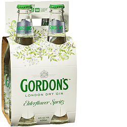 GORDONS ELDERFLOWER SPRITZ 4PK