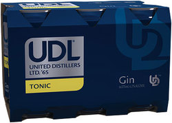 UDL GIN AND TONIC CAN 6PACK