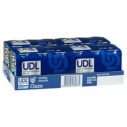 UDL OUZO AND COLA CAN - GO INTO DRAW TO WIN A ICE BOX! DRAWN 30TH APRIL 21
