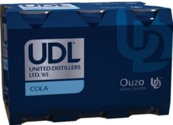 UDL OUZO AND COLA CAN 6PACK