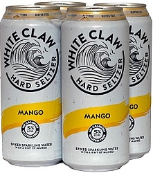 WHITE CLAW MANGO CANS 4PK - UNAVAILABLE