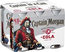 CAPTAIN MORGAN & COLA 4.5% CAN