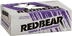 RED BEAR VODKA AND PASSIONFRUIT CANS