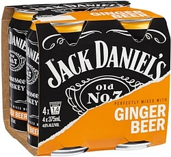 JACK DANIELS + GINGER BEER CANS 4PK- SPEND $20 OR MORE ON JACK DANIELS & GO INTO DRAW TO WIN A UE SPEAKER!