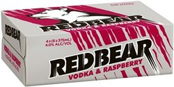 RED BEAR VODKA AND RASPBERRY CANS