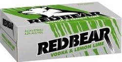 RED BEAR VODKA LEMON AND LIME & SODA CAN