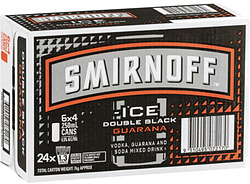 SMIRNOFF ICE BLACK AND GUARANA CANS