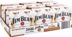 JIM BEAM WHITE MID CANS