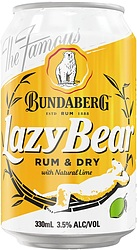 BUNDABERG LAZYBEAR DRY LIME CAN