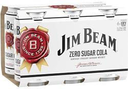 JIM BEAM ZERO & COLA CAN 6PK