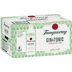 TANQUERAY GIN and TONIC ST