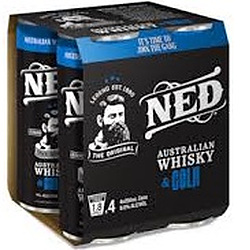 NED WHISKY + COLA 9% 250ML CAN 4PK