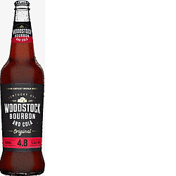 WOODSTOCK 4.8% + COLA 660ML LONGNECK 12PK