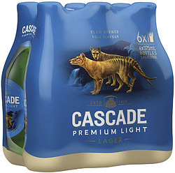 CASCADE LIGHT 375ML STUBBIES 6 PACK