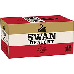 SWAN DRAUGHT 375ML STUBBIES