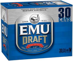 EMU DRAFT 375ML 30PK CAN