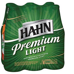 HAHN PREMIUM LIGHT 375ML STUBBIES 6PK