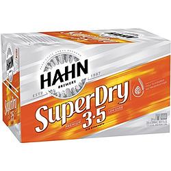 HAHN SUPER DRY 3.5% 330ML STUBBIES