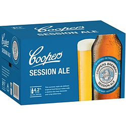 COOPERS SESSION ALE 375ML STUBBIES - BUY COOPERS AND GO INTO DRAW TO WIN!