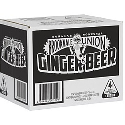 BROOKVALE UNION GINGER BEER 500ML BOTTLES
