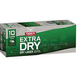 TOOHEYS EXTRA DRY 330ML CANS 10PK