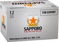SAPPORO PREMIUM BEER 650ML CANS 12PK