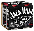 JACK DANIELS DOUBLE JACK & COLA CAN 4PK