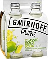 SMIRNOFF PURE CLASSIC LIME AND SODA 4PK