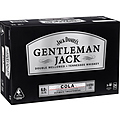 JACK DANIELS GENTLEMAN JACKS and COLA CANS 375ML