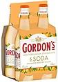 GORDONS MEDITERRANEAN ORANGE GIN + SODA 4PK STUBBIES