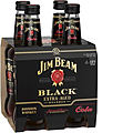 JIM BEAM BLACK & COLA STUBBIES 4PK