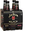 JIM BEAM BLACK & COLA STUBBIES 4PK